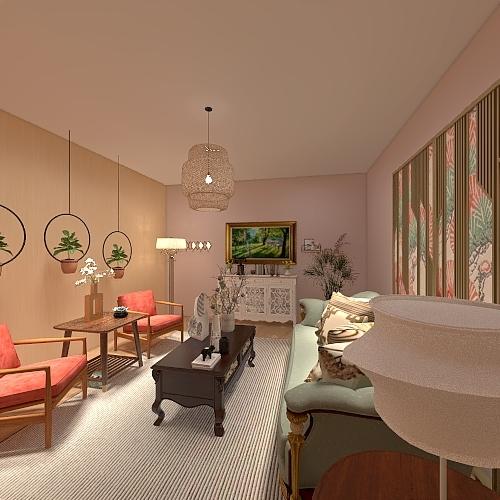 Pink dream Interior Design Render