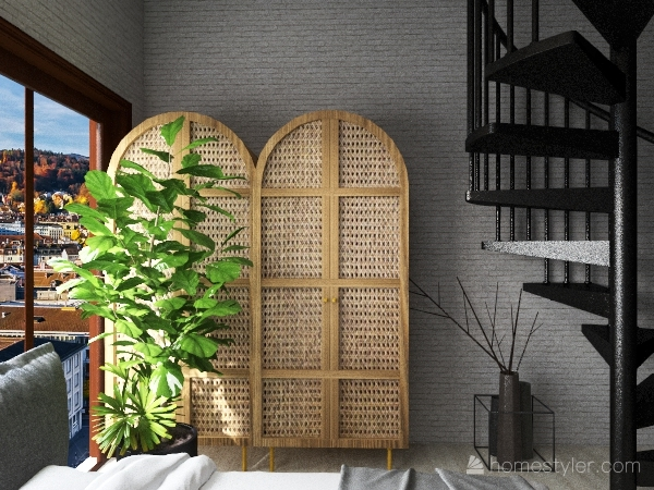 Peaceful Two Story House Interior Design Render