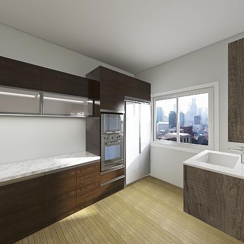 1 Bedroom, 1 Bathroom Interior Design Render