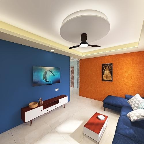 24thJuly2021_Hall_Kitchen Interior Design Render