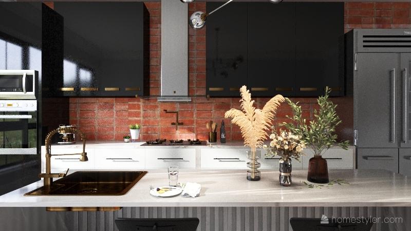 modern urban kitchen Interior Design Render