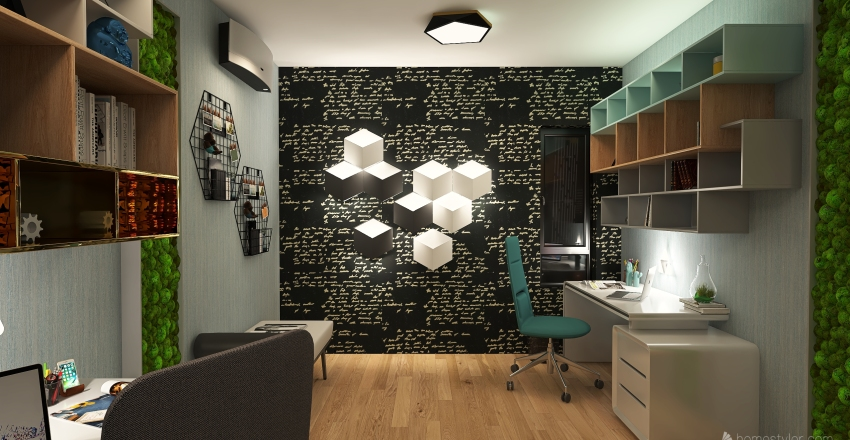 🌎 OFICINA DUPLEX Interior Design Render