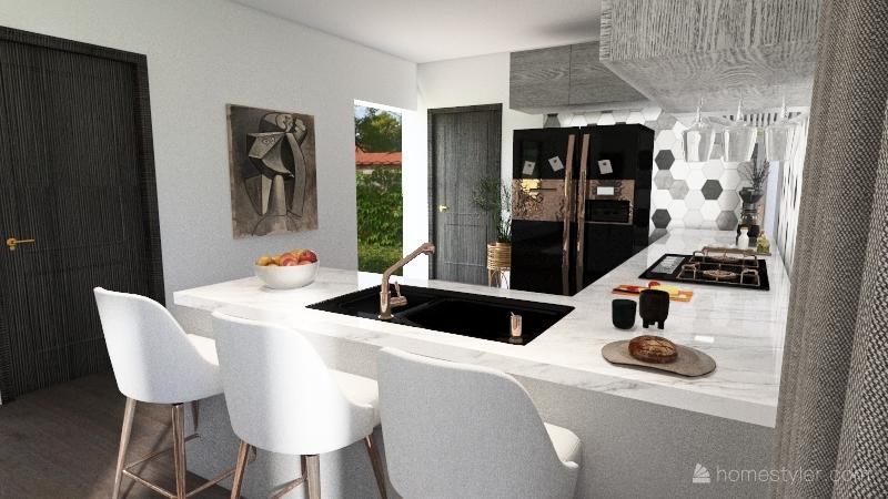 Open Floor Plan Modern Interior Design Render