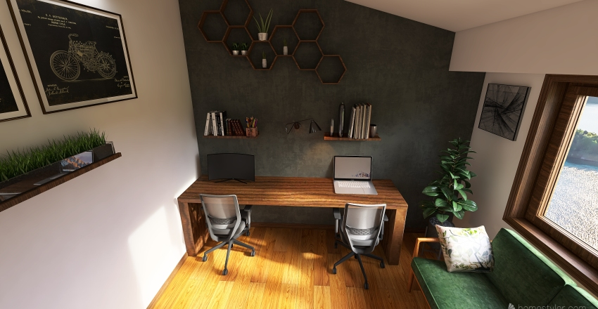 Rabotna Soba Interior Design Render