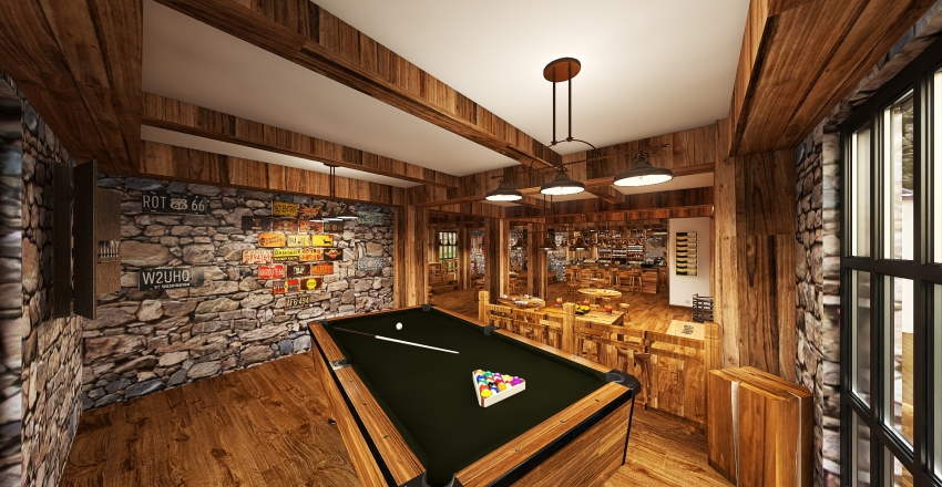 COUNTRY WINE BAR Interior Design Render