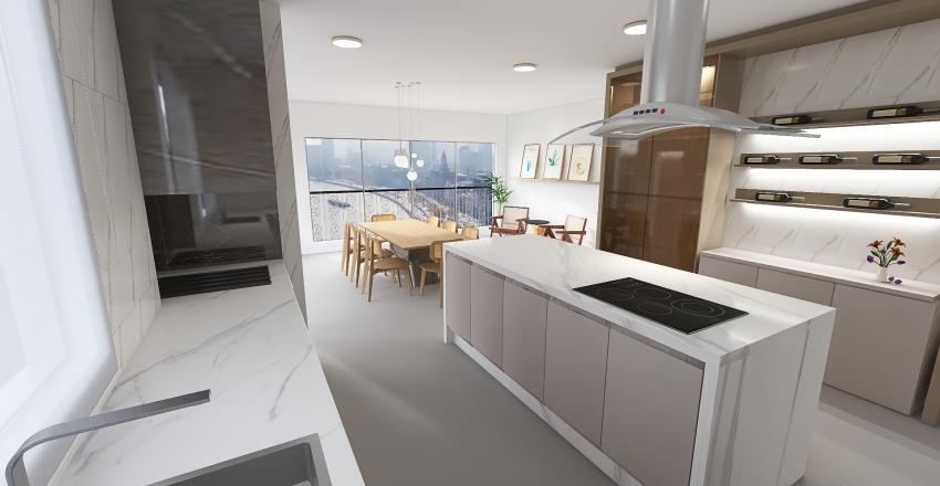 Cozinha Gourmet Interior Design Render
