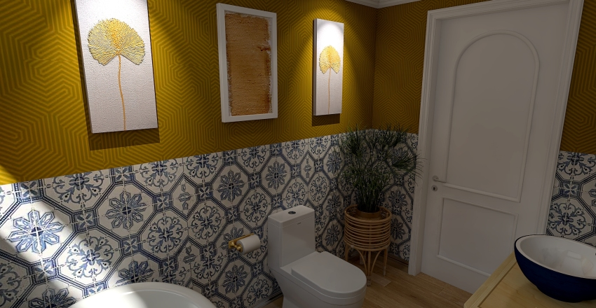 Boho Tiny Loft Interior Design Render