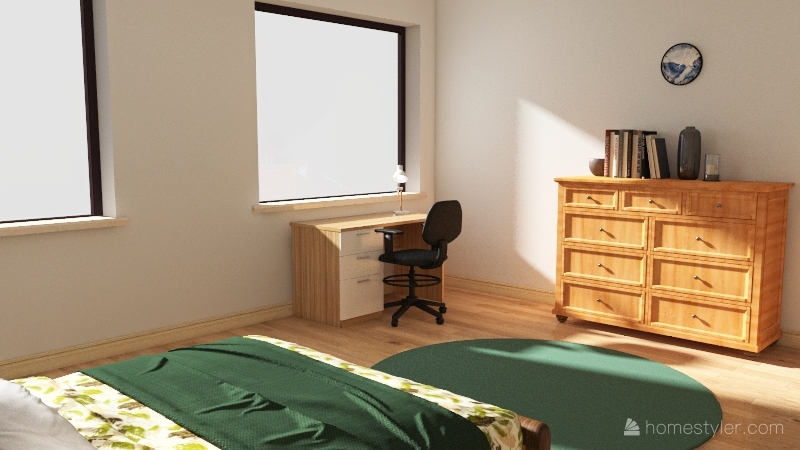 Japanese Guest Room Assignment Interior Design Render