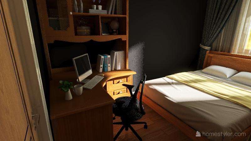 Mieszkanie_Barei_Remont_OBECNY UKŁAD W ŁAZIENCE Interior Design Render