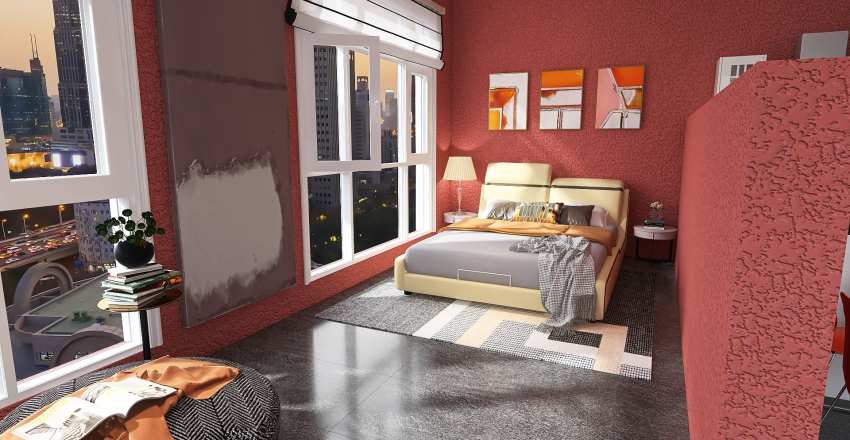 Downtown small appartment Interior Design Render