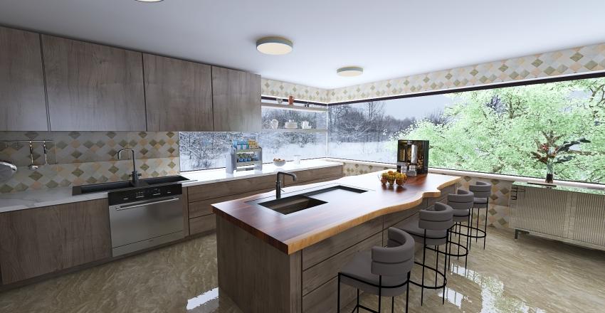 casa 3 andares...vidros... Interior Design Render