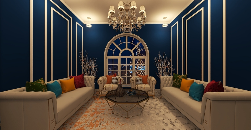 classy living room design Interior Design Render