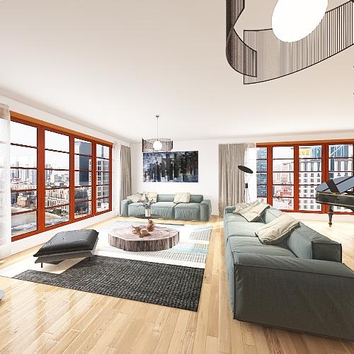 APPARTEMENT FAMILLIALE Interior Design Render