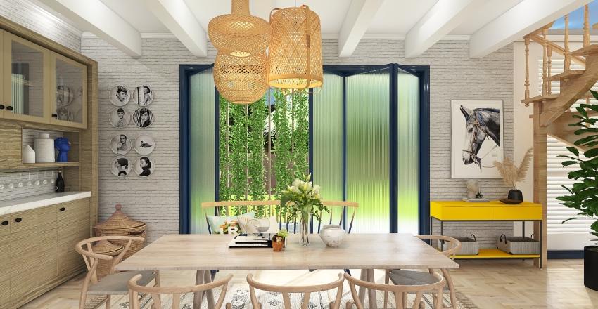 Sandy shore house Interior Design Render