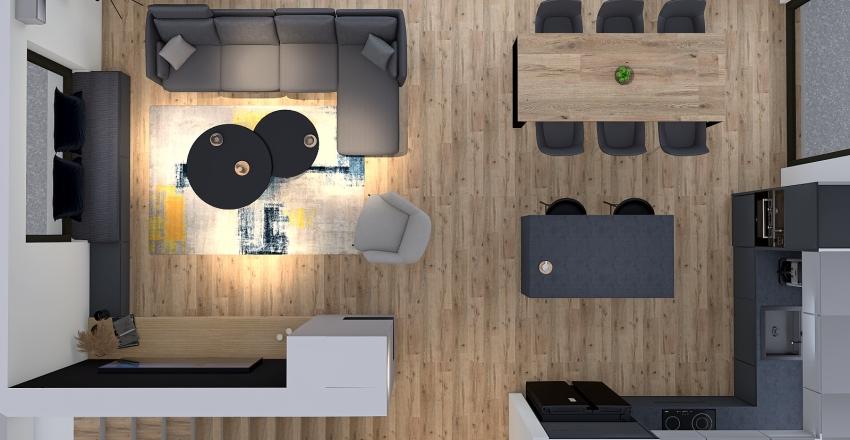 SALON I KUCHNIA Interior Design Render