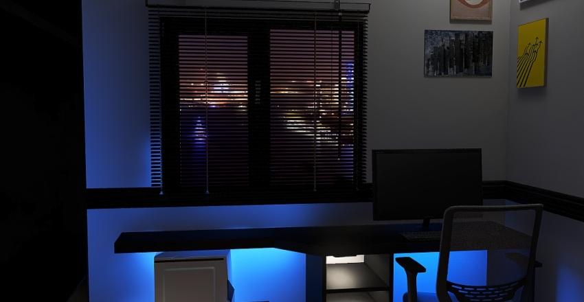 quarto moderno Interior Design Render