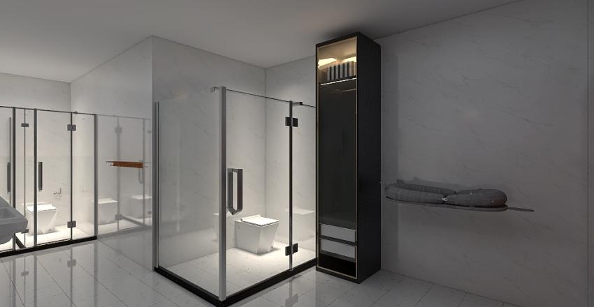 Masjid Bathroom Interior Design Render