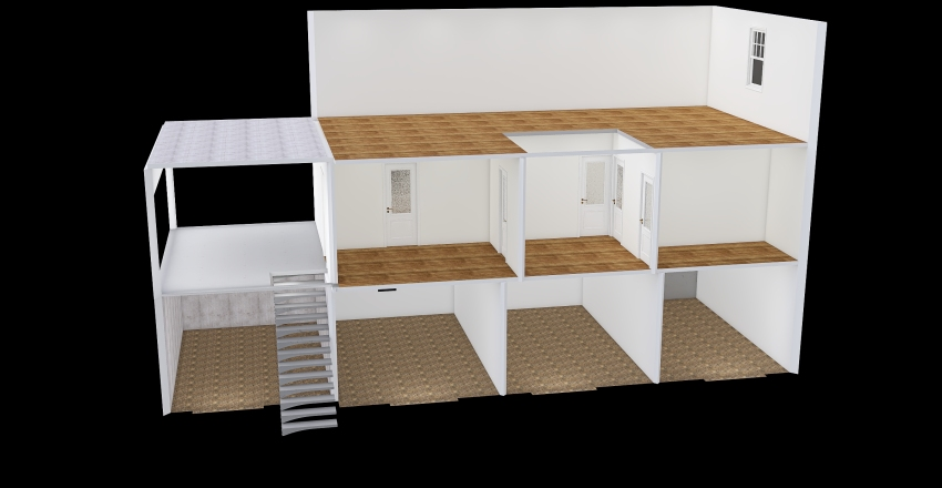 Current Layout of Portugal home Interior Design Render