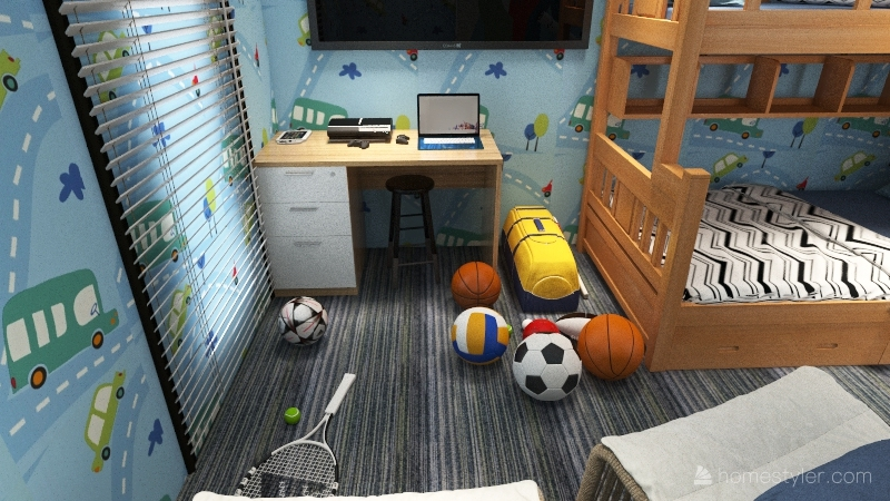 Baby On The Loose Interior Design Render