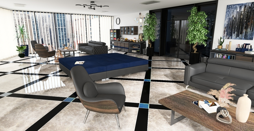 Ufficio Interior Design Render