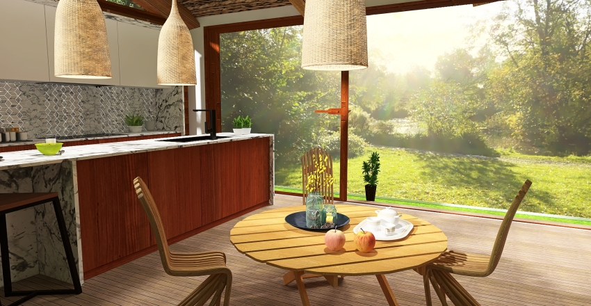 Meadow Cabin Interior Design Render