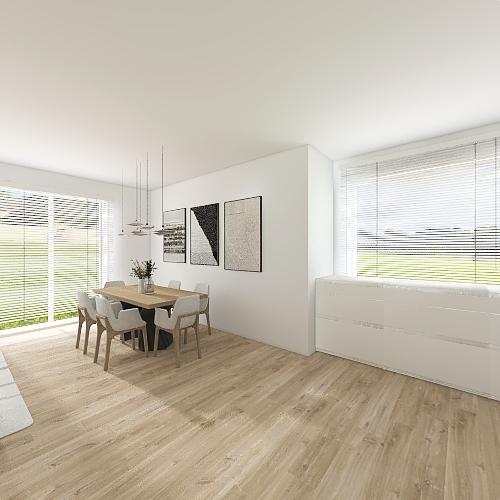 mieszkanie 94 połączone gabinety Interior Design Render