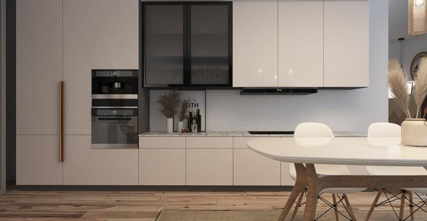 Boho-Nordic Interior Design Render
