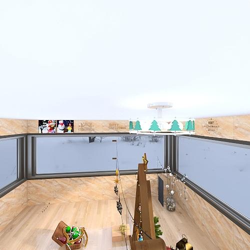 Christmas theme Interior Design Render