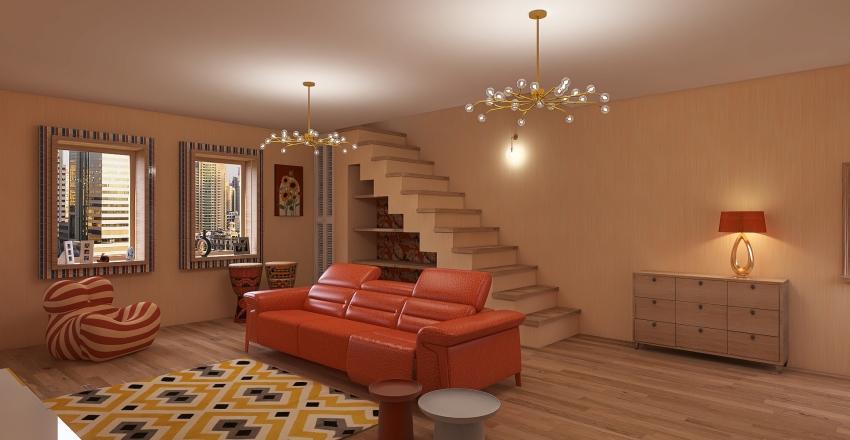 Arancione che passione Interior Design Render
