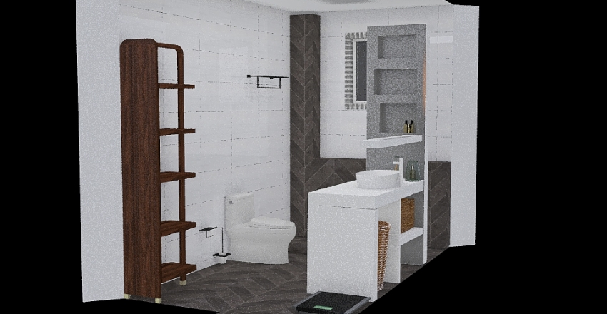 bathroom renovation project Interior Design Render