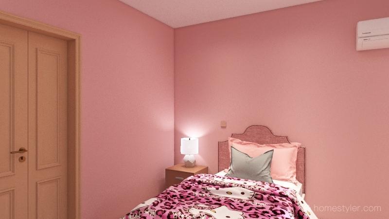pink Interior Design Render