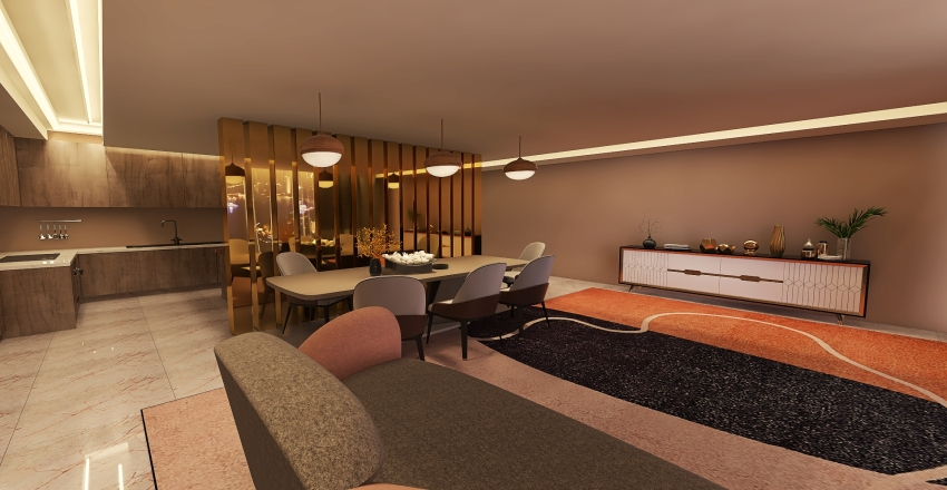 dinging room  Interior Design Render