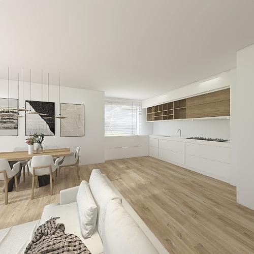 of mieszkanie 94 osobne gibinety,M. połączony z sypialnią Interior Design Render