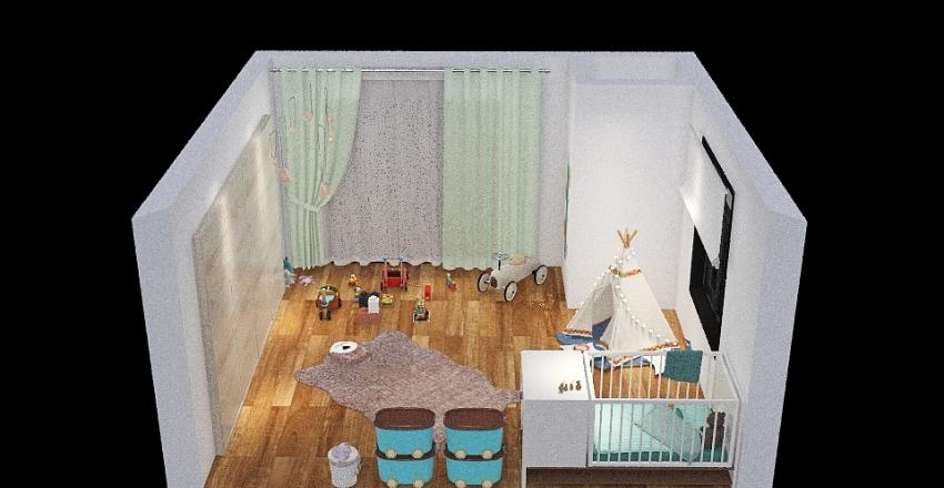 Room of a baby boy Interior Design Render