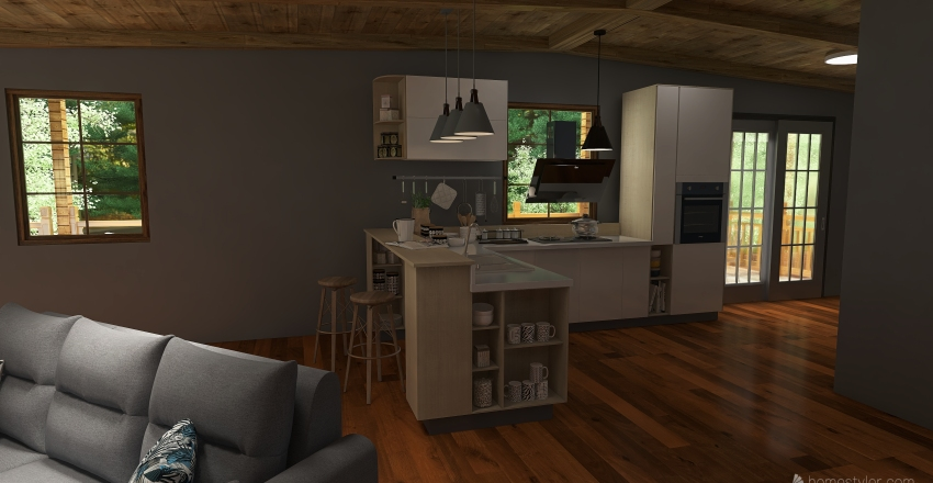 Cozy Country Home Interior Design Render