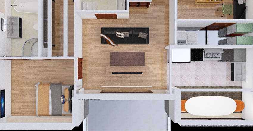 Condo Design - Mazin Mukhtar Interior Design Render