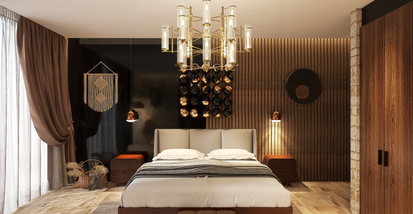 The Rustic Badroom Modern  Interior Design Render