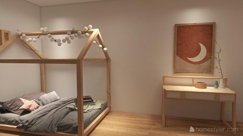 1st design girls bedroom Interior Design Render
