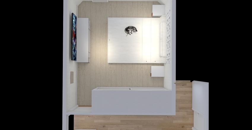 Спальня и коридор Interior Design Render