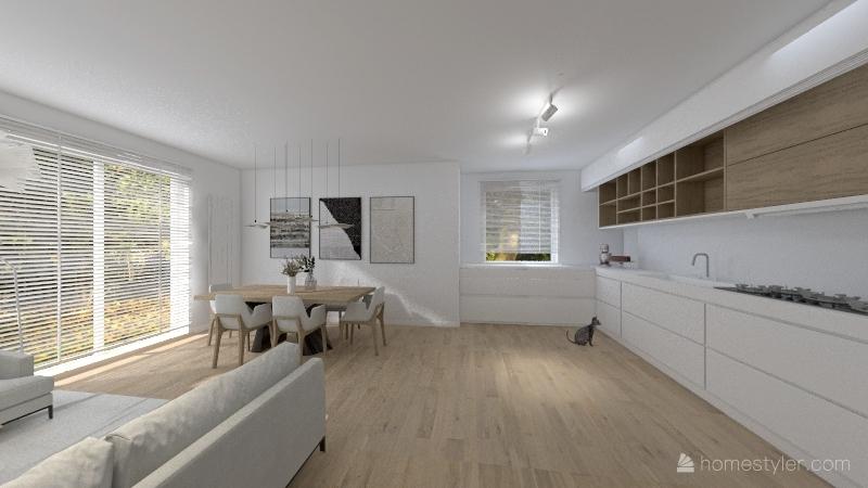 przeniesiony gabinet - mieszkanie 94 po zmianach Interior Design Render