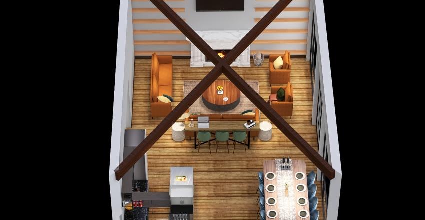 McCracken Floorplan- Greatroom Interior Design Render