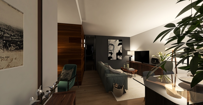 Apartment in Milan Interior Design Render
