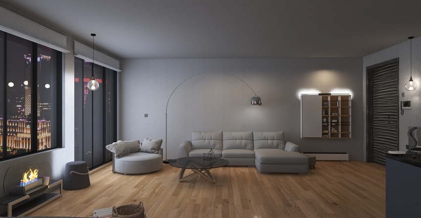 House no5 Interior Design Render