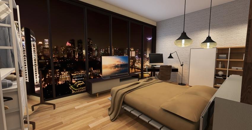 Loft Apartment Studio Interior Design Render