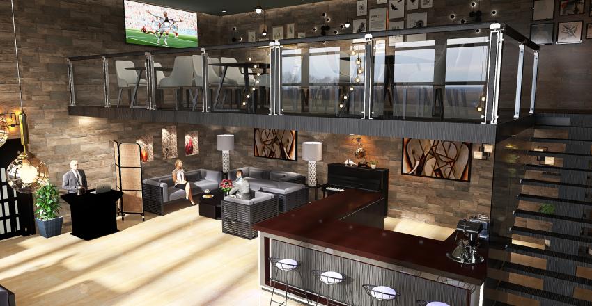 Lobby Cafee Interior Design Render