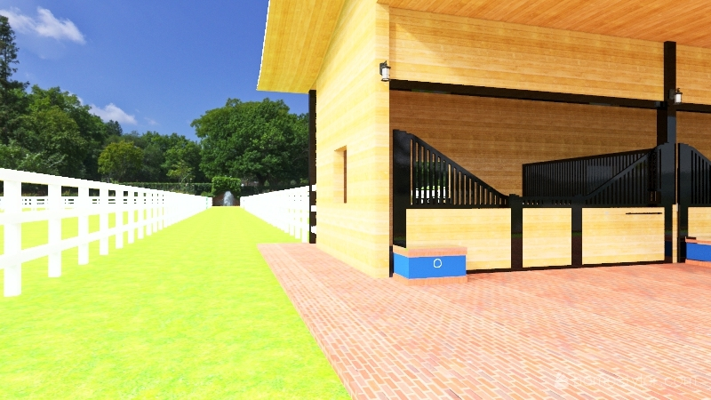 School Project Barn A Interior Design Render