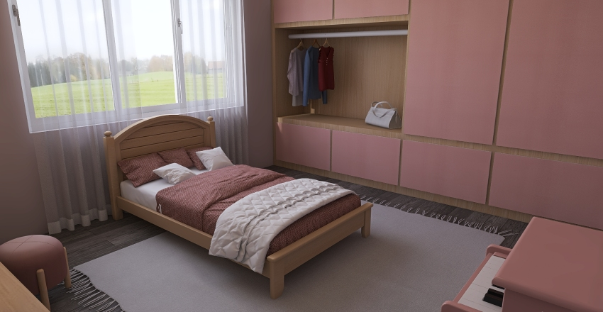 little house Interior Design Render