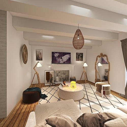 maison du sud de la france Interior Design Render