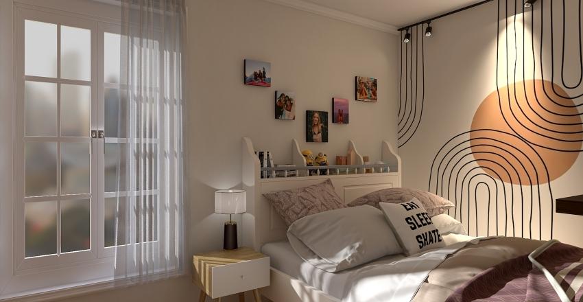 City modern apartment Interior Design Render