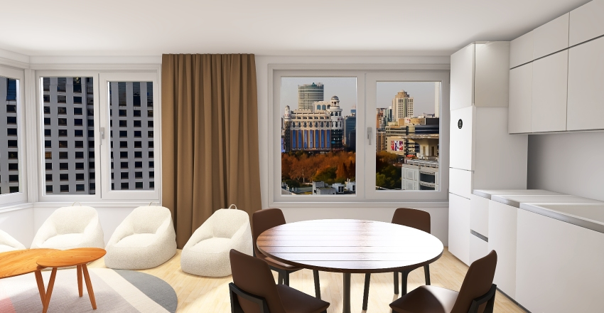 Apartments 52m with 1 bedroom, Moscow Interior Design Render